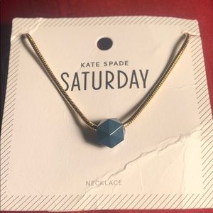 Kate Spade ♠️ Navy and gold toned necklace New